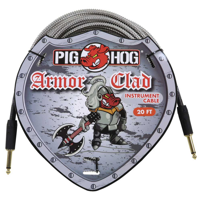 "Pig Hog 20ft ""Armor Clad"" Instrument Cable"
