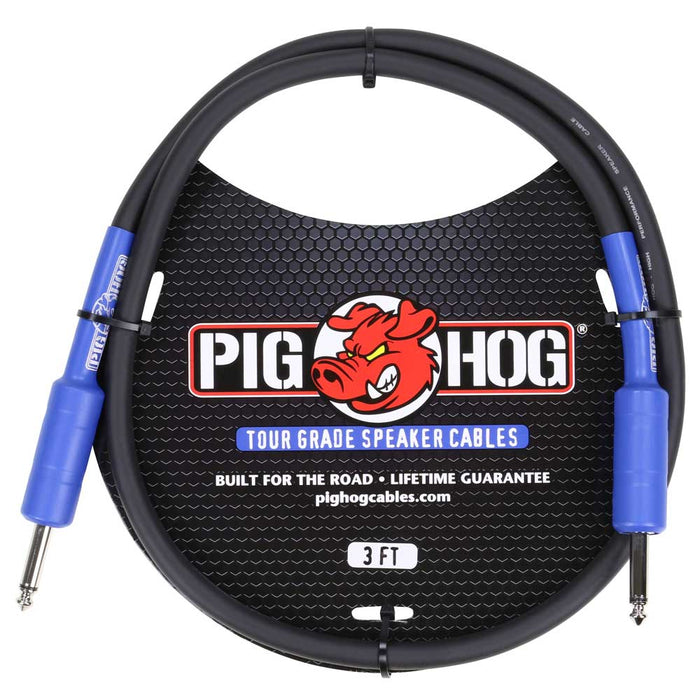 Pig Hog 3ft, 9.2mm 14 Gauge Wire Tour Grade Speaker Cable