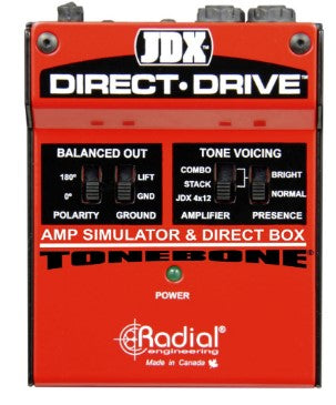 Radial Engineering JDX Direct-Drive Amp Simulator & DI Box