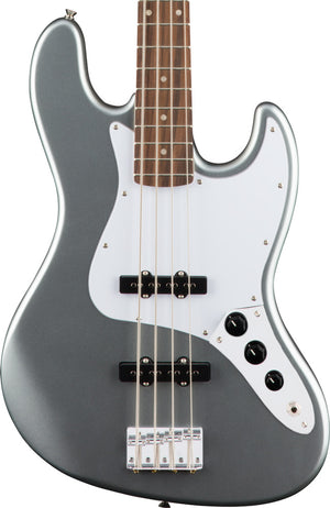 Squier Affinity Series 4 String Jazz Bass Guitar, Slick Silver