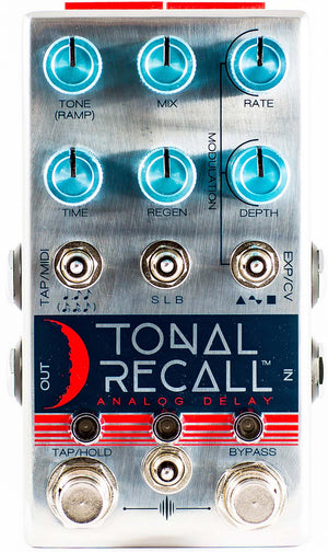 Chase Bliss Audio Tonal Recall Analog Delay Pedal Blue Knob