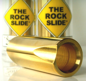 The Rock Slide Pro Guitar Slides - Extra Large Polished Brass - TRS-XLB