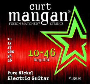 Curt Mangan 10-46 Electric Guitar Pure Nickel Set