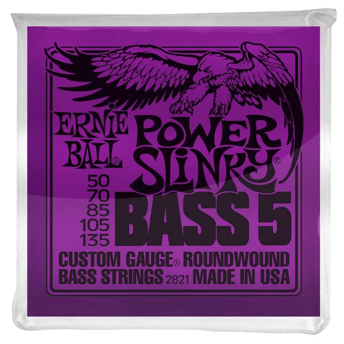 Ernie Ball Power Slinky 5-string Nickel Wound Electric Bass Strings 50-135
