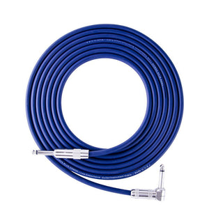 Lava Cable 15ft Standard Instrument Cable, The Blue Demon, Right Angle