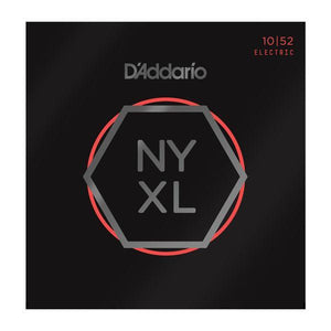 D'Addario NYXL 1052 Nickel Wound Electric Guitar Strings, Light Top / Heavy Bottom, 10-52