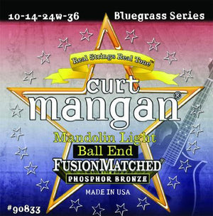 Curt Mangan Light Ball End Phosphor Bronze Mandolin String Set