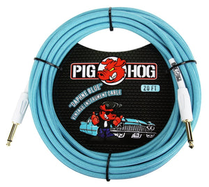 Pig Hog Cable Daphne Blue 20' Instrument Cable
