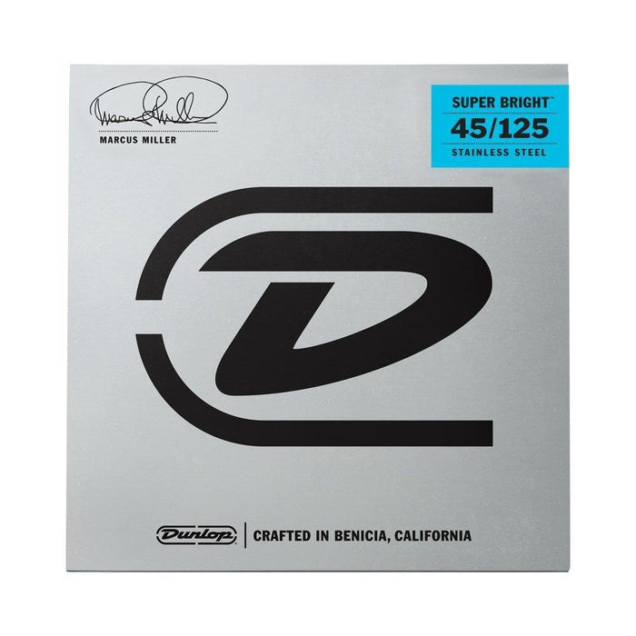 Dunlop Marcus Miller Super Bright 5 String Bass Guitar Strings 45-125
