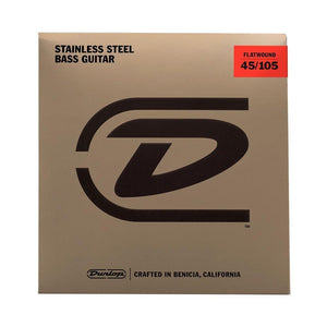 Dunlop Flatwound Bass Guitar Strings, Medium 45-105