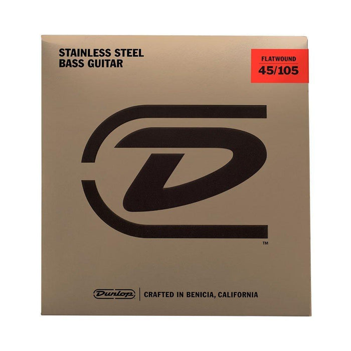 Dunlop Flatwound Bass Guitar Strings, 45-105 Short Scale