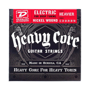 "Dunlop Heavy Core Nickel Wound 11-50 ""Heavier"" Guitar String Set"