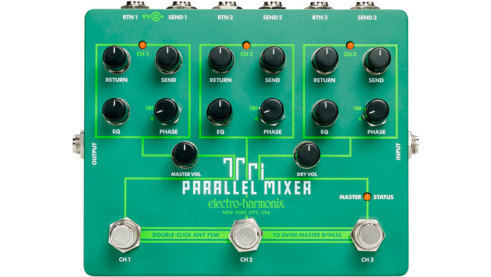 Electro-Harmonix Tri-Parallel Mixer Effects Loop Mixer/Switcher