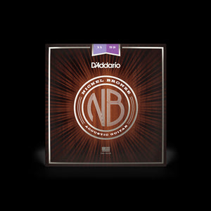D'Addario Nickel Bronze Wound 11-52 Acoustic Guitar Strings