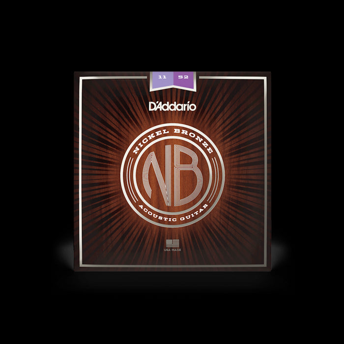 D'Addario NB1152 Nickel Bronze Wound 11-52 Acoustic Guitar Strings
