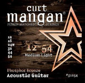 Curt Mangan 12-54 Phosphor Bronze Acoustic Guitar String Set