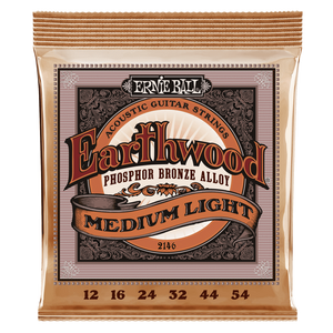 Ernie Ball Earthwood Medium Light Phosphor Bronze Acoustic Guitar Strings 12-54