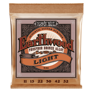 Ernie Ball Earthwood Light Phosphor Bronze Acoustic Guitar Strings 11-52