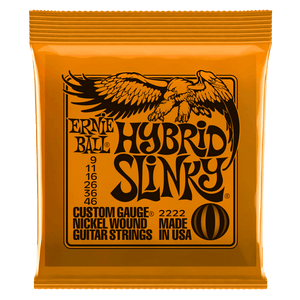 Ernie Ball Hybrid Slinky Nickel Wound Electric Guitar Strings 9-46