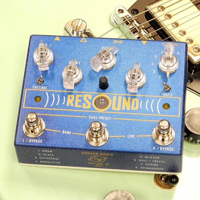 Cusack Music Resound - Digital Reverb Pedal w/ Presets & Extend Switch