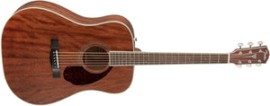 Fender PM-1 Standard Dreadnought All-Mahogany 6-String Acoustic Guitar w/Hardshell Case