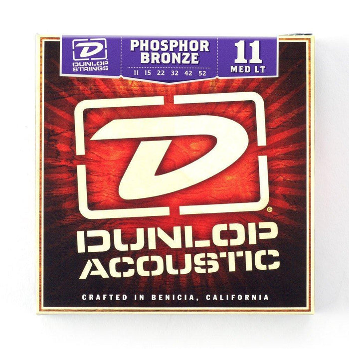 Dunlop Phosphor Bronze 11-52 Acoustic Guitar String Set