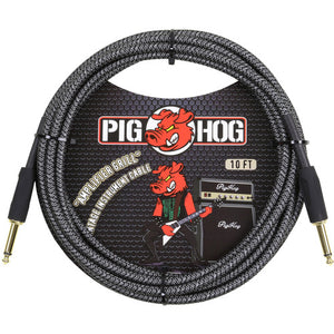 "Pig Hog 10ft Straight ""Amp Grill"" Vintage Instrument Cable"