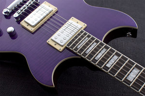 Reverend Guitars Sensei RA FM (Flamed Maple) Electric Guitar in Purple Brown