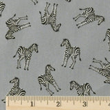 Japanese Cotton - Grey Zebra, 1/2 yard
