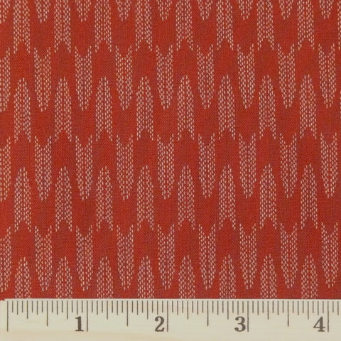 Japanese Cotton - Arrowhead, Brick Red, 1/2 yard