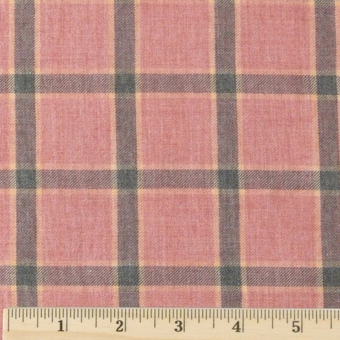 End of Bolt Sale! Japanese Organic Cotton Flannel - Rose/Navy, 1.5 yards