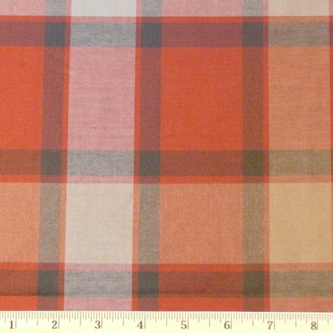 Cotton/Rayon/Tencel Gabardine - Pumpkin/Slate, 1/2 yard