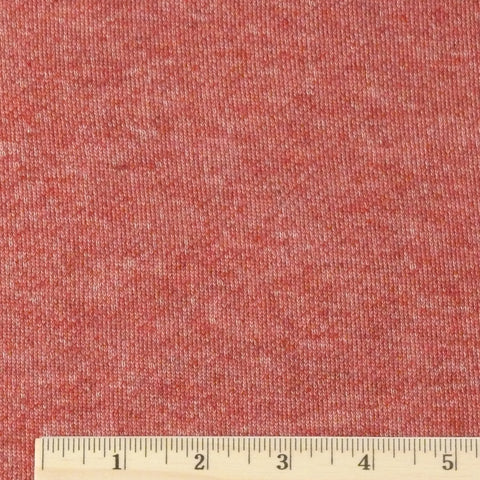 Cotton/Rayon French Terry - Brick Heather, 1/2 yard