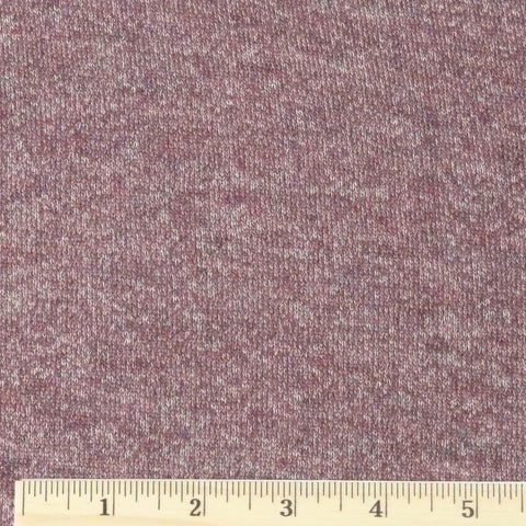 Cotton/Rayon French Terry - Aubergine Heather, 1/2 yard