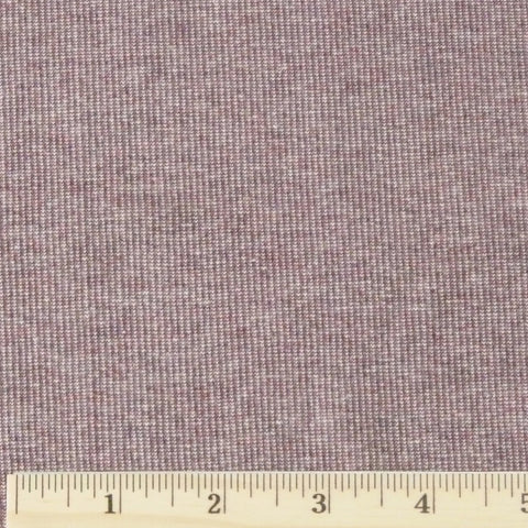 Cotton/Rayon/Poly Ribbing - Aubergine Heather, 1/2 yard