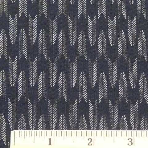 Japanese Cotton - Arrowhead, Midnight Blue, 1/2 yard