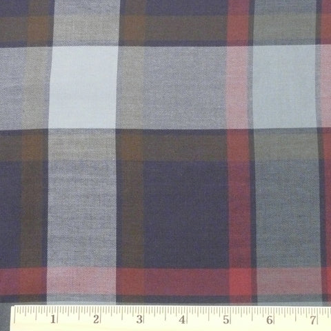 Cotton/Rayon/Tencel Gabardine - Navy/Slate, 1/2 yard