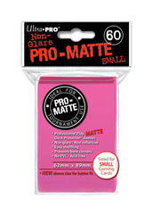 Ultra Pro Deck Protector Sleeves x60 Pro Matte Non-Glare Small Bright Pink