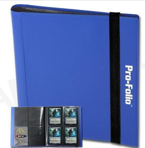 BCW Profolio 4 Pocket Blue Binder