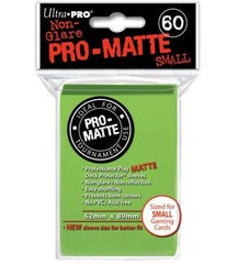 Ultra Pro Deck Protector Sleeves x60 Pro Matte Non-Glare Small Lime Green