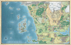 D&D Sword Coast Adventures Guide Faerun Map