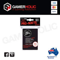 Ultra Pro 60ct Pro-Matte Small Deck Protectors - Black