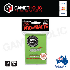 Ultra Pro 50ct Pro-Matte Standard Deck Protectors - Lime Green