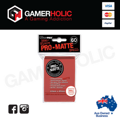 Ultra Pro 60ct Pro-Matte Small Deck Protectors - Red