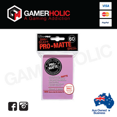 Ultra Pro 60ct Pro-Matte Small Deck Protectors - Pink