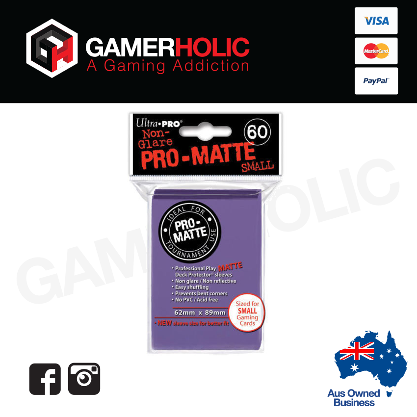 Ultra Pro 60ct Pro-Matte Small Deck Protectors - Purple