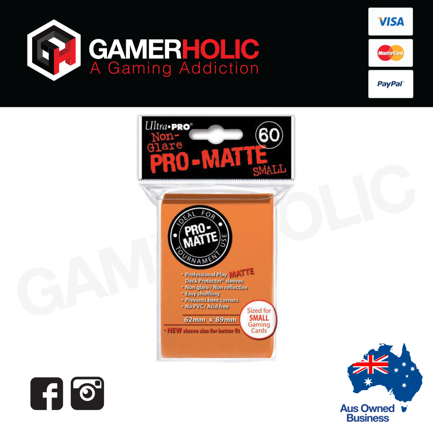 Ultra Pro 60ct Pro-Matte Small Deck Protectors - Orange