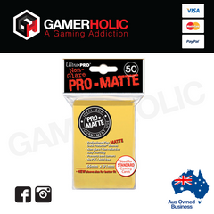 Ultra Pro 50ct Pro-Matte Standard Deck Protectors - Yellow