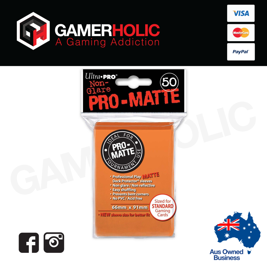 Ultra Pro 50ct Pro-Matte Standard Deck Protectors - Orange