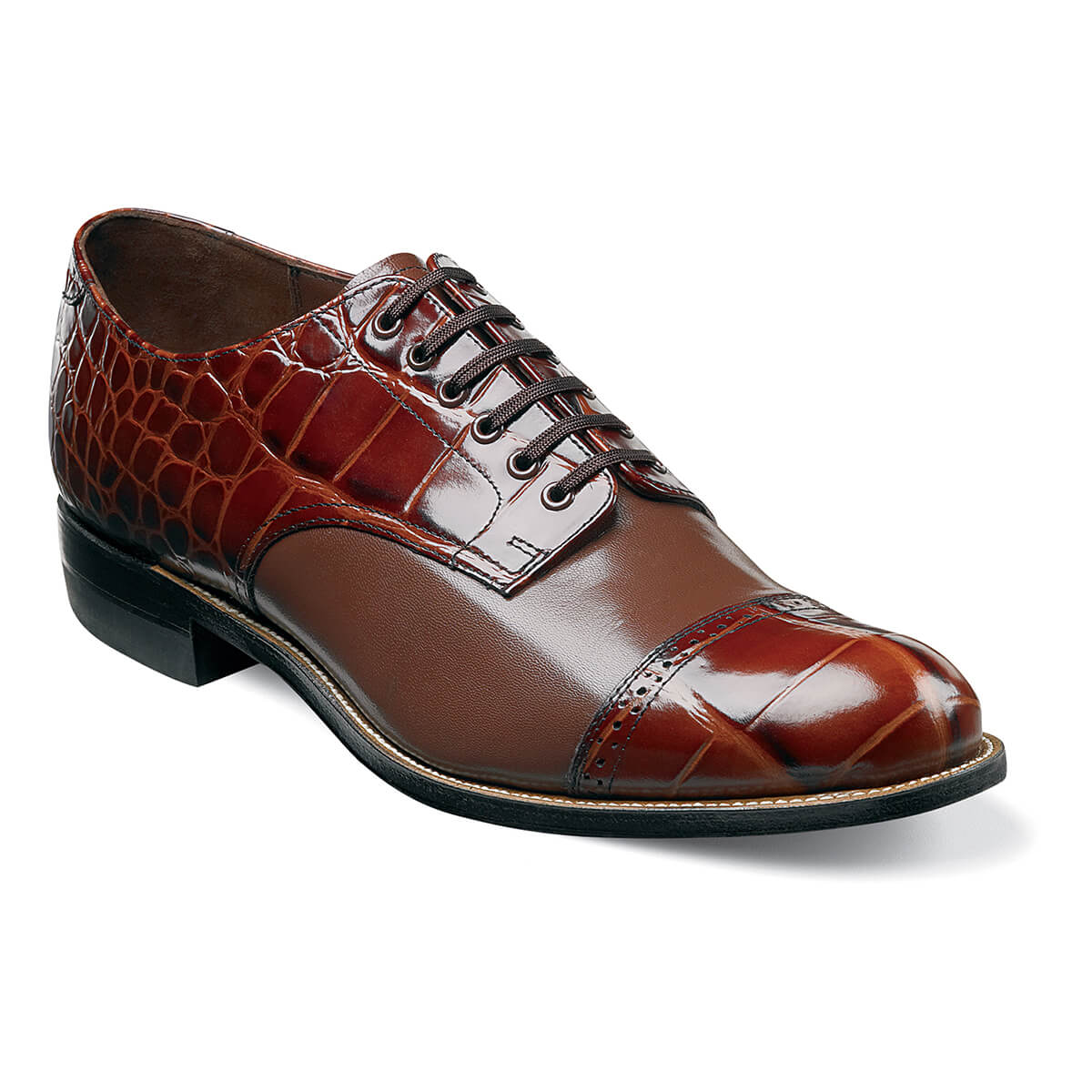 Madison Croc Cap Toe Oxford